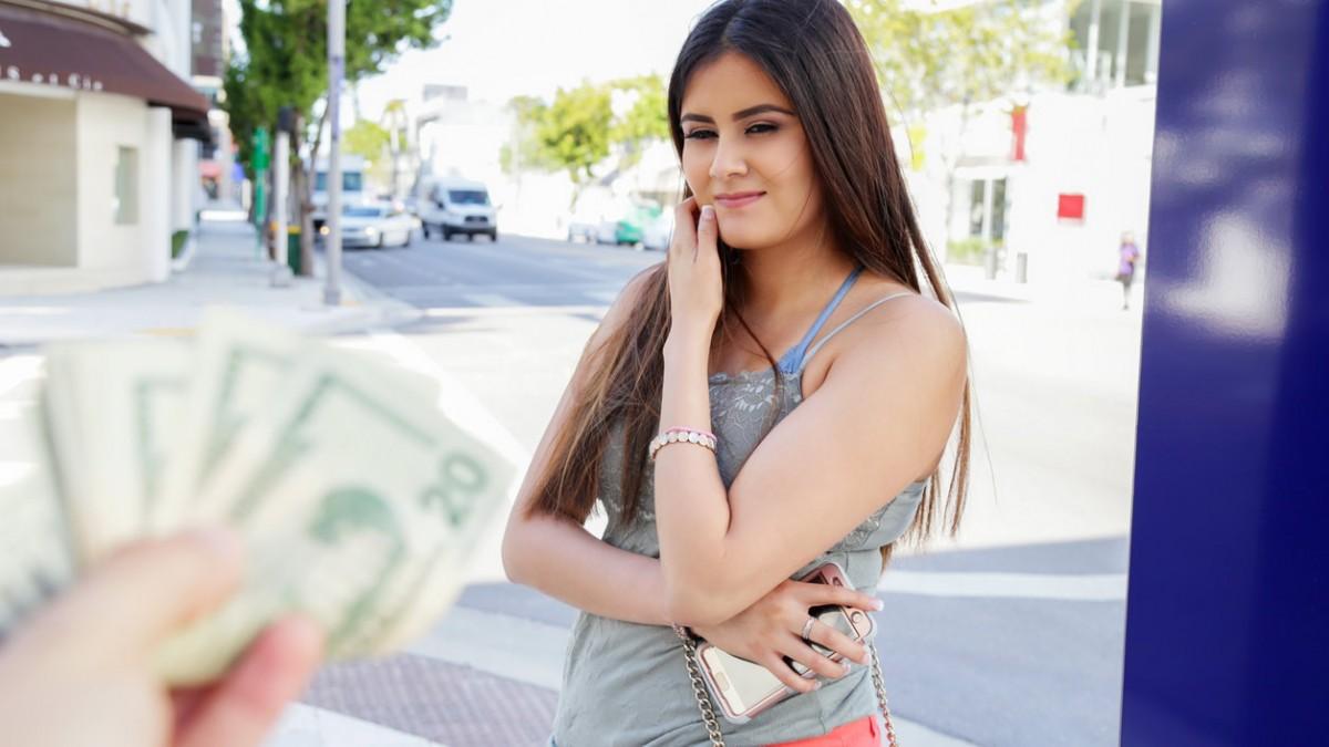 PublicPickUps –  Gabriella Caprice  – Armenian Babe Gets Cum in Her Eye
