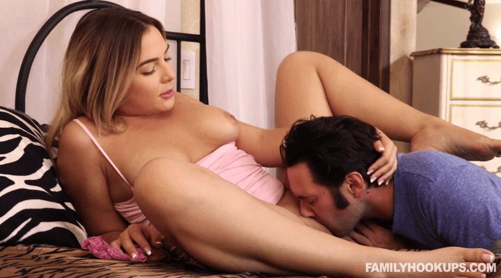 FamilyHookups – Blair Williams – Stepbrother Jerks Off While Masturbate