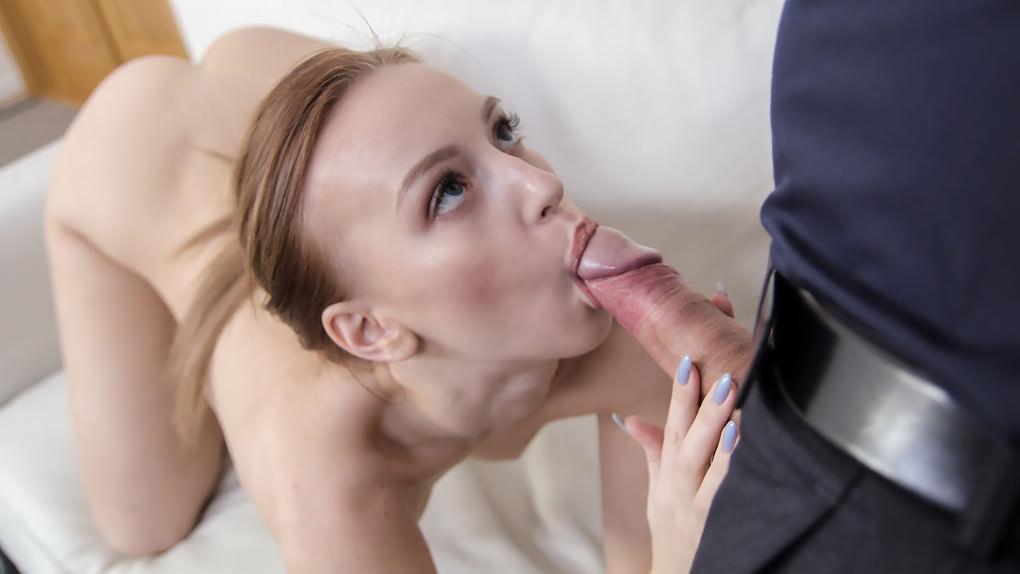FakeAgent –  Big facial for sweet Russian model – Kira Thorn