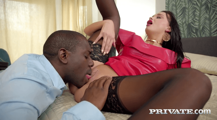 Private  – Daphne Klyde – Interracial Threesome With And Two Creampies
